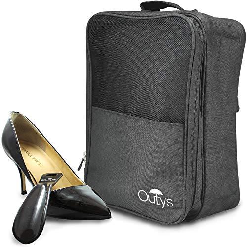 Shoe Travel Bag Organizer Waterproof Portable 3-Compartment Storage Packing Cube (Waterproof Shoe Bag)
