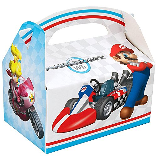 Super Mario Bros. Mario Kart Birthday Party Supplies 12 Pack Favor Box (Luigi Party Invitations)