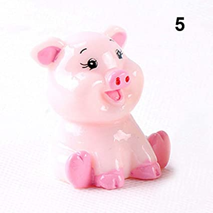 Resin Pig Figurines Miniatures Fairy Garden Crafts Gift Ornament Decoration UK