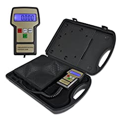 Product description  A Refrigerant Charging Scale is ideal for HVAC and refrigeration service, including the critical charging of small refrigeration systems. This Refrigerant Charge Scale offers the highest accuracy of +/-0.25oz.(5grams.), d...