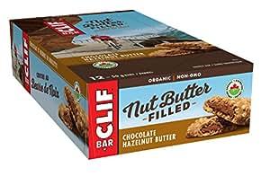CLIF Nut Butter Filled - Organic Energy Bar - Chocolate Hazelnut Butter - (50 Gram Protein Snack Bar, 12 Count)