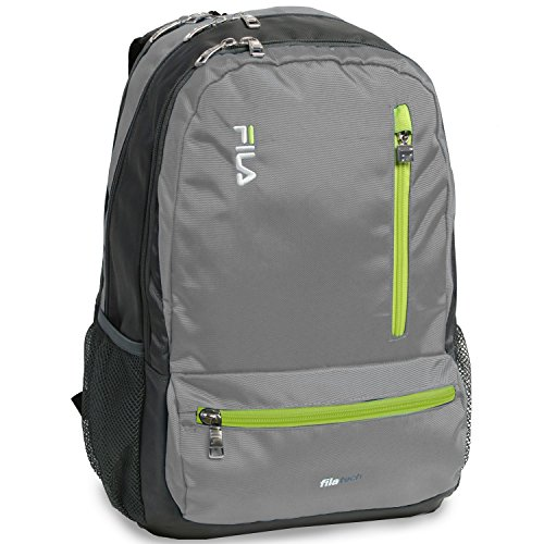Fila Nexus 5 Pocket School Laptop Tablet Backpack, Grey by Fila