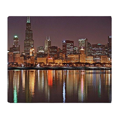 CafePress - Chicago Reflected - Soft Fleece Throw Blanket, 50