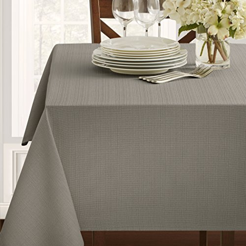 Benson Mills Textured Fabric Tablecloth (60