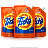 Image of Tide Smart Pouch Original Scent HE Turbo Clean Liquid Laundry Detergent, Pack of 3, 48 oz. pouches, 93 loads