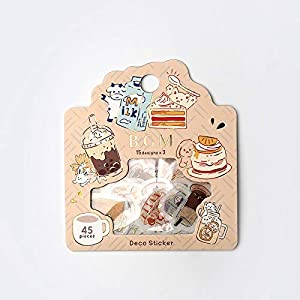 BGM - Flake Stickers - Flake Seal Foil Stamping - Yummy Food & Drinks (Washi Tape Material) - for Scrapbooking Art Craft DIY