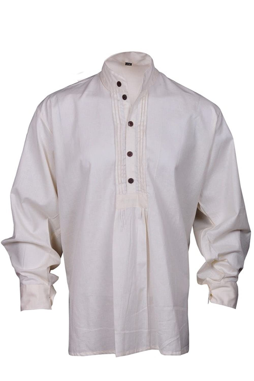 1960s Inspired Fashion: Recreate the Look GothikShop Mens Pirate Renaissance Shirt Medieval Caribbean Hippie Costume $32.00 AT vintagedancer.com