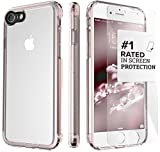 iPhone 8 and 7 Case, SaharaCase Clear Protective Kit Bundled with [ZeroDamage Tempered Glass Screen Protector] Rugged Slim Fit Shockproof Bumper [Hard PC Back] Protection - Rose Gold