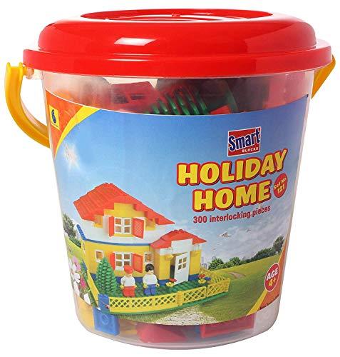 Peacock Toys Smart Blocks Holiday Home  Bucket