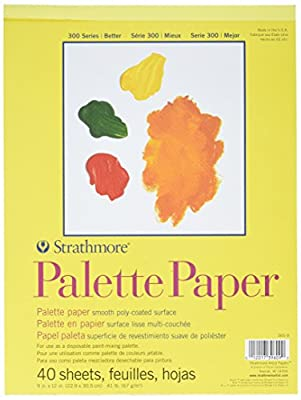 "Strathmore. 365-9 300 Series Palette Pad, 9""x12"" Tape Bound, 40 Sheets"