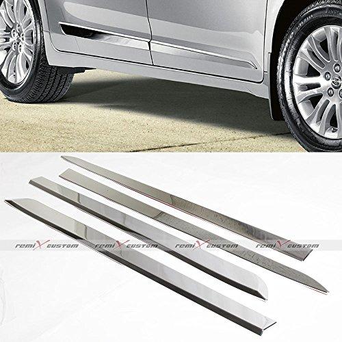 2011 - 2016 Toyota Sienna Chrome Door Side Body Lower Moldings Kit