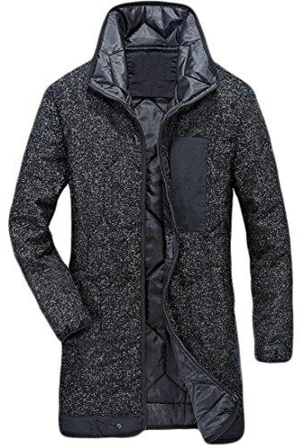 Packable Inverno Cappotto Lungo Hot Caldo Nero Uomini Spessore Brd Piumino uk Di xxqwA