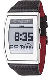 DETOMASO Inchiostro Mens E-Paper Display Watch Stainless Steel Digital Date DT2035-A