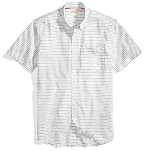 Amazon Brand - Goodthreads Men's Standard-Fit Short-Sleeve Horizontal Stripe Shirt