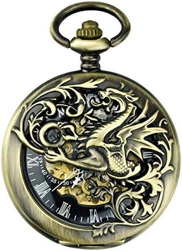 機械式時計、中空フリップTarrasqueユニコーン、クラシックレトロフリップ中空学生ナースウォッチお土産、色名:C (Color : B)