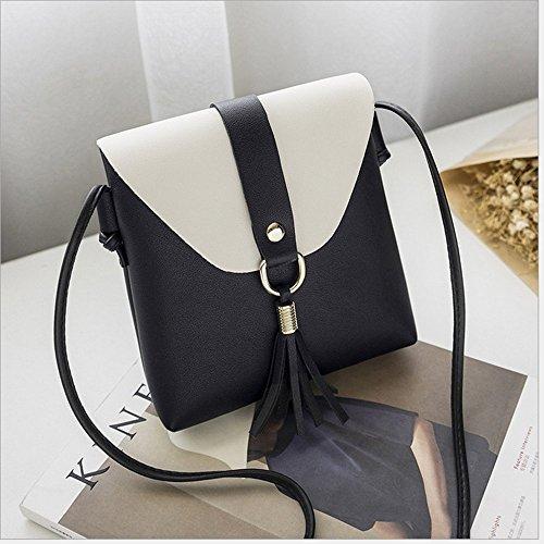Rrock Frauen Handytasche Weibliche Tasche Ändern Schlüssel Tasche Messenger Tasche Fünf Farben Black