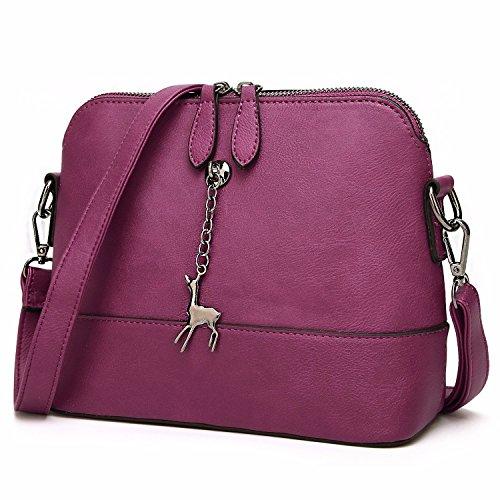 MSZYZ Regalos de Vacaciones Elegante Bolso De Hombro Bolsas Bolsos para Mujer Pequeña Señoras Bolsos Bolsas Bandoleras Púrpura Purple
