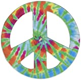 Paper House Productions M-0240E Die Cut Refrigerator Magnet, Peace Sign - Tie Dye (6-Pack)