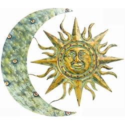 """Gardman 8415 Aztec Sun and Moon Wall Art, 26"""" Long x 24"""" Wide"""