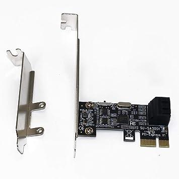 Oddity Tarjeta de expansión de 2 Puertos PCI-E a SATA3.0 Interfaz ...