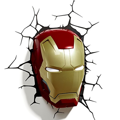 Comics+3D+Night+Lamp+ Products : Marvel Comics 3D Iron Man Mask Wall Light