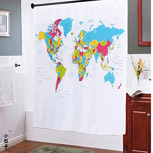 Oneoney the world map peva shower curtain with 12 hooks70x70 oneoney the world map peva shower curtain with 12 hooks70x70 buy online in uae products in the uae see prices reviews and free delivery in dubai gumiabroncs Images