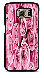 Pretty Pink Baby Roses Black Hardshell Case for Samsung Galaxy S6 EDGE by supermalls