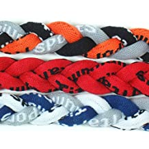 NEW! Extreme Sports 3-Pack of Tornado Necklaces (Black Orange Gray-Red-Navy Gray White)