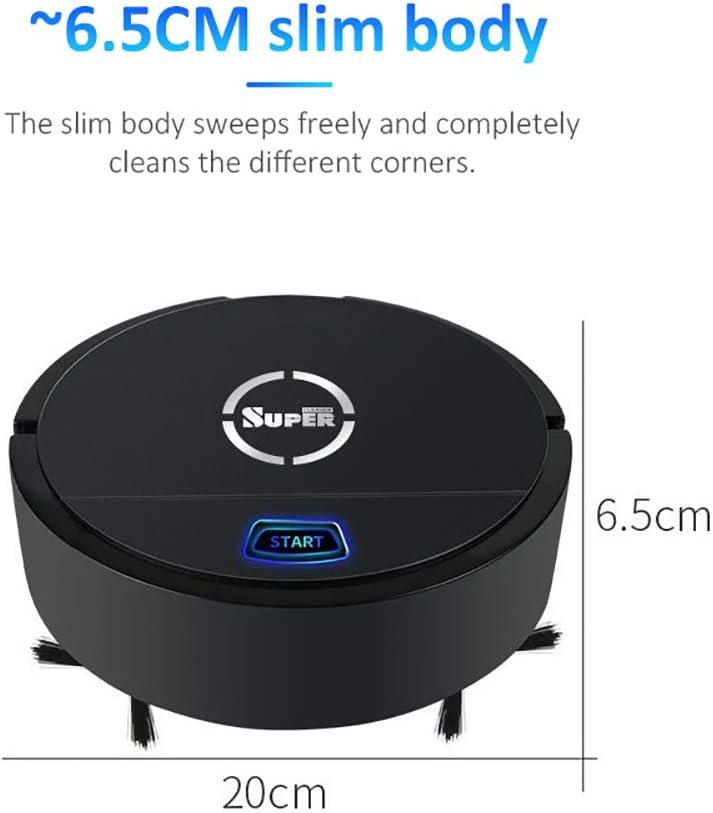 CCFCF - Mini robot per aspirapolvere automatico per la pulizia del pavimento, per peli di animali domestici, pavimenti duri, tappeti a pelo medio Rosso Nero