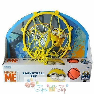 2015 Despicable Me Minions Over-The-Door Basketball Hoop Set Toy by Brand New]()
