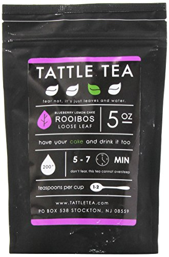 Tattle Tea Blueberry Lemoncake Rooibos Herbal Tea, 5 Ounce