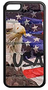 USA Flag and Eagle Wall Art- Case for the Apple Iphone 6- Hard Black Plastic Snap On Case