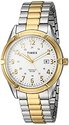 Timex Men's 'Easton Avenue' Quartz Brass and Stainless Steel Casual Watch, Color: Two Tone (Model: TW2P893009J) from Timex Corporation