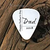 Best Sierra Metal Design Birthday Gift For Men - Personalized Happy Father's Day Guitar Pick Gift Review