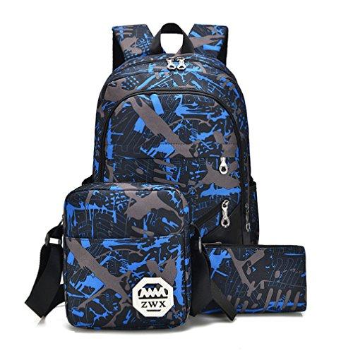 St.Roma - Bolso mochila  de Piel Sintética para mujer azul