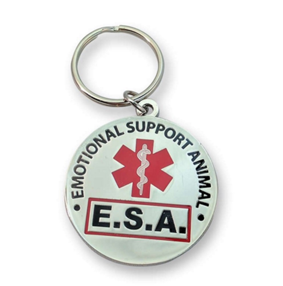 Brand - Official Emotional Support Animal ESA Round Hanging ID Tag - Hang from a Collar, Vest, Harness or Leash. Great form of identification for small to large emotional support dogs Working Service Dog