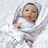 Paradise Galleries Lifelike Asian Great to Reborn Baby Doll, Baby Bundles: Born To Be Spoiled Girl Doll Crafted in Silicone-Like Vinyl and Weighted Body, 19 inch