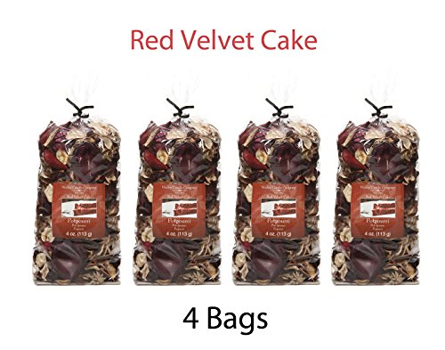 Hosley Red Velvet Cake Potpourri - Set of 4/4 oz Each. Ideal for Gift for Spa, Wedding, Party, Decorative Bowls O7]()