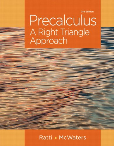 321912764 - Precalculus: A Right Triangle Approach (3rd Edition)