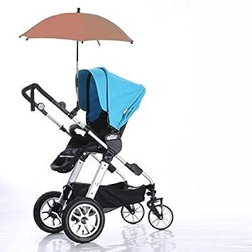Universal UV Rays Protection Baby Pram Sun Umbrella Canopy Wheelchair Pushchair Sun Rain Umbrella Parasol with Clip Clamp Strollers Accessories Baby Strollers Umbrella