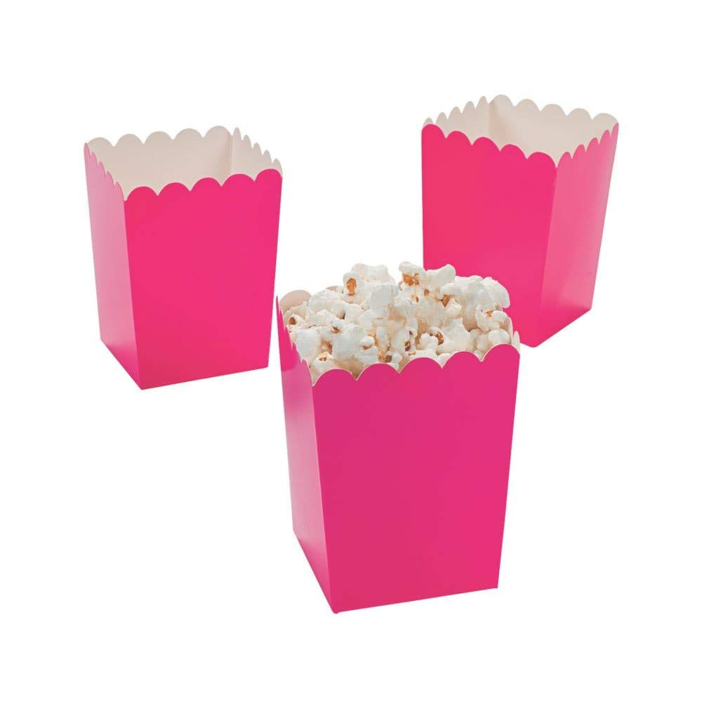 Fun Express Mini Valentine Popcorn Boxes, Hot Pink, 48 Pieces