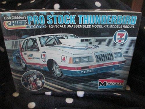 (#2210 Monogram Bob Glidden's Pro Stock Thunderbird 1/24 Scale Plastic Model Kit, Needs Assembly)