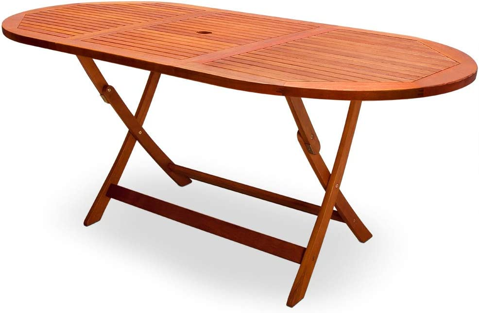 Deuba Garden Table Dining Table Alabama Foldable Fsc Certified Acacia Wood 160 X 85 Cm Wooden Table Garden Table Garden Furniture Amazon Co Uk Garden Outdoors