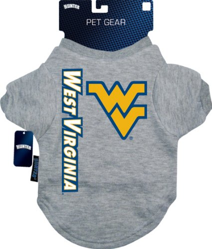 Hunter Mfg. LLP NCAA West Virginia Mountaineers Pet T-Shirt, Team Color, X-Large