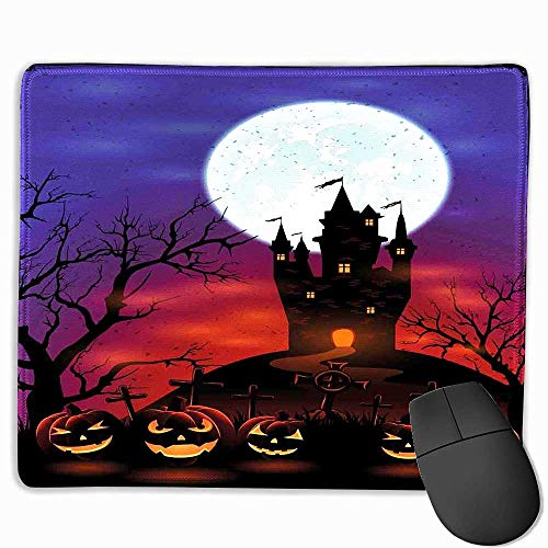 Halloween Office Mouse Pad Gothic Haunted House Castle