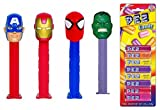 PEZ Marvel (Bundle of 5 Items) - 4 Marvel Dispensers, and a Pack of 8 PEZ Candy Refills
