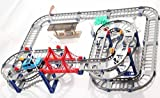 play sets for kids Large Track Rail Car DIY Toy Car Model Electronic Kids Toy Multilayer 68*56CM play sets boys