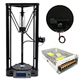 Anycubic Upgraded Linear Version Unassemble Delta Rostock 3D Printer Kossel Kit Large Print Size φ180x300mm
