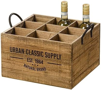 Caja de Botellas Botellero Soporte para Botellas Madera Abeto Vintage 40 cm Urban Classic Supply: Amazon.es: Hogar