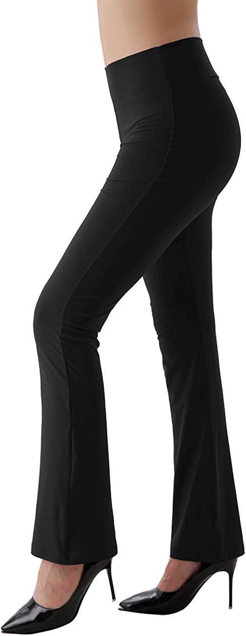 Utheral Womens Bootcut Yoga Pants High Waisted Flare Bootleg Leopard Tummy Control Casual Bell Bottoms
